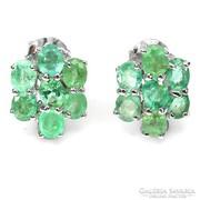 Valodi Termeszetes Kezeletlen Smaragd 925 Ezust Fulbevalo