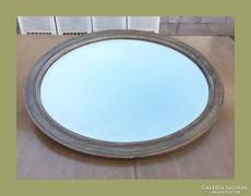 Intarziás keretű,fazettás régi tükör