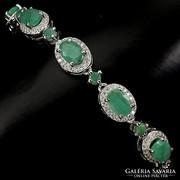 Valodi Termeszetes Kezeletlen Smaragd  925 Ezust Karkoto