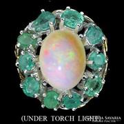 Valodi Termeszetes Kezeletlen Opal Smaragd 925 Ezust Gyuru