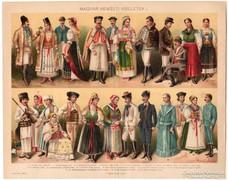 Magyar nemzeti viseletek I., Pallas színes nyomat 1896