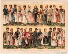 Magyar nemzeti viseletek II., Pallas színes nyomat 1896