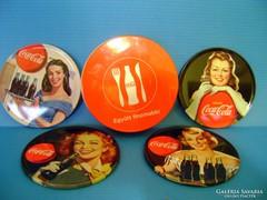 Coca-Cola pohár alátét dobozában 4 db Új Retró hangulatú