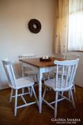 Provence vintage 4 személyes étkező (asztal és négy szék)