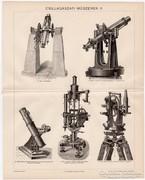 Csillagászati műszerek II., Pallas nyomat 1894, eredeti