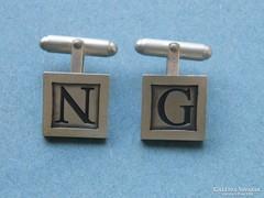 Ap 355 - Ezüst N & G monogram mandzsetta