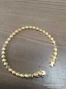 Aranyozott ezüst karkötő gyémántokkal