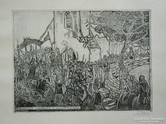 STETTNER BÉLA RÉZKARC (30X40) 1978