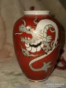 Wallendorf Goldrelief  sárkányos váza