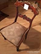 Biedermeier - neorokokó átmenet támlás szék