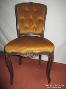 Neobarokk kárpitozott szék,felújítandó.