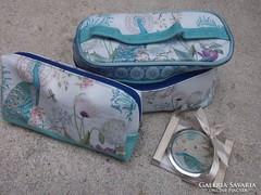 Kozmetikai táska,neszeszer,piperetükör 3 db-os szett ajándék