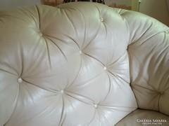 Chesterfild bőr 200cm kanapé