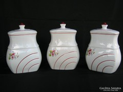 Fűszertartó készlet 3 db-os porcelán nagyobb méret