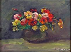 0J626 Olasz K. jelzéssel virágcsendélet