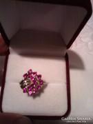 Rubin köves ezüst gyűrű