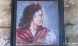 Glatz Oszkar női portré, festmény!
