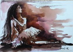 Biró Konrád gyönyörű művészi akvarellje.Balett sorozat.