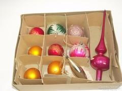Karácsonyfadísz készlet eredeti régi dobozban