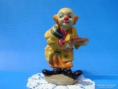 Német porcelán zenélő bohóc