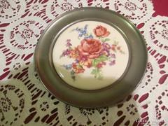 Virágmintás ón tányér  1204