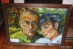 Nagy Szilveszter festmény. Kerettel. 72x96cm.