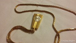 Régi női aranyozott nyaklánc óra ZARJA