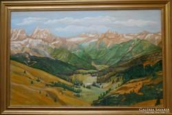 Tájkép a Dolomitokról.