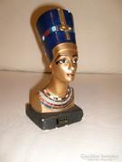 Egyiptomi aranyozott színes Fáraó Fej-