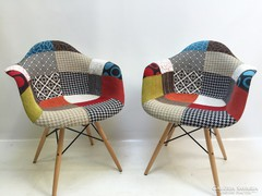 Patchwork huzatos modern, dizájn fotel