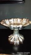Ezüst hólyagos asztalközép/ kínáló