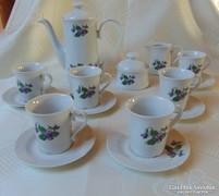 Ilmenau 5 személyes ibolya mintás kávés készlet
