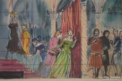 Biai-Föglein István (1905-1974): Színházi jelenet I.