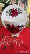 Colclough Bone China angol piros rózsás  kávés/teás duó
