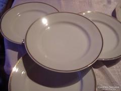 Csodaszép aranycsíkos hollóházi lapos tányér 24 cm
