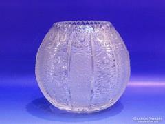 0J686 Régi kristály gömbváza 13 cm