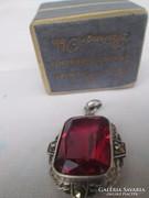 Századfordulós antik  rubin köves medál ezüstben