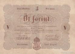 KOSSUTH-  bankó  Öt forint!!  Barna nyomat  GYŰJTEMÉNYBŐL !!