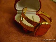 Gold plated howlit állítható karék