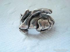 Kézműves masszív ezüst gyűrű