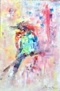 A művész absztrakt madár sorozatának kiemelkedő darabja!