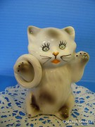 Orosz retro porcelán aranyos cica macska