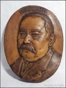 Mikszáth Kálmán terrakotta falikép