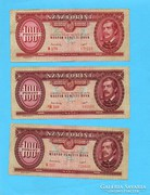 100 Forint 1949 3 db Szebb darabok!!!!