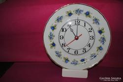 Hollóházi porcelán szedres óra