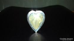 Ezüst szív alakú kis méretű képkeret