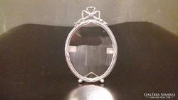 Ezüst ovális kis méretű képkeret