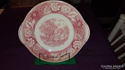 Antik angol porcelán tortatál / kínáló