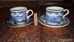 Angol porcelán teáscsészék ( 2 főre )