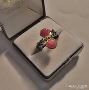 Meseszép kézműves rubinköves ezüstgyűrű